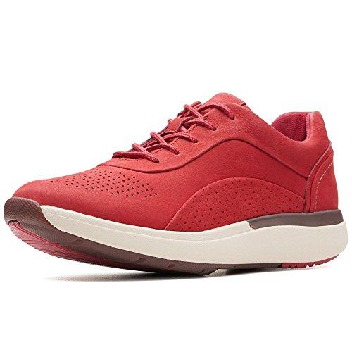 Clarks Un Cruise Lace - Zapatillas deportivas para mujer, color Rojo, talla 41 EU