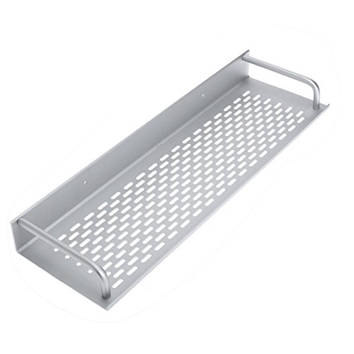Dophee 40Cm Enkele Tier Rechthoek Bad/Keuken Rack Aluminium Badkamer Plank Ruimte Opslag Voor Keuken Badkamer