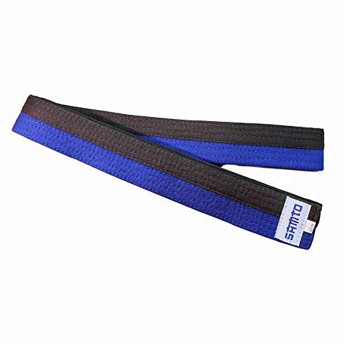SAMTO Cinturón Infantil Judo, Karate, Taekwondo y Otras Artes Marciales (Azul-Marron)