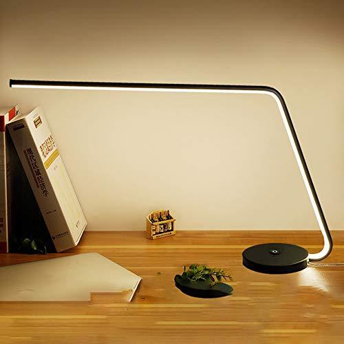 QXinjinxtd Lámparas para Habitaciones Lámpara de Escritorio LED Simple, Interruptor de Encendido/Apagado táctil, Luces de Cuidado Ocular Ligeras for Leer, sueño Relajante, Gran área Luminosa, 3 nive