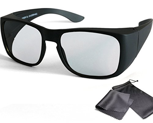 Schleiter & Jauernig SJ-UE - Gafas 3D pasivas para usuarios de Gafas o sin Gafas, polarizadas Circulares, para Cine y TV en 3D RealD, 200 g