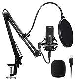 MIEMIE USB Microphone Kit, 192Khz / 24Bit High Sampling Rate Computer USB Microphone Bm800 Microphone Set Microphone-