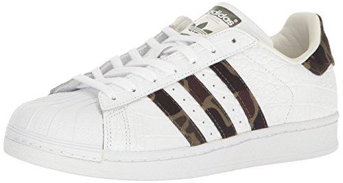 adidas Superstar, Zapatillas para Hombre, Blanco/Core Negro/Blanco Desteñido, 42 EU