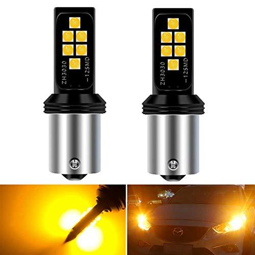 Llevó la linterna de los bulbos excelente disipación de calor por 2X CANBUS P21W 1156 BA15S del coche LED luz de reserva reversa 12 SMD 3030 de la cola del bulbo Por XC60 XC90 S80 S40 V70 V40 V50 C30