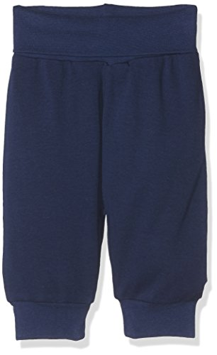 Schnizler Kinder Pump-Hose aus 100% Baumwolle, komfortable und hochwertige Baby-Hose mit elastischem Bauchumschlag, Blau (Marine 11), 92