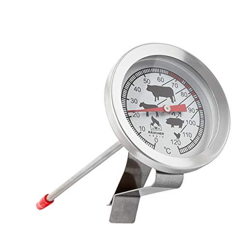 Räucher König Edelstahl BBQ Räucher Thermometer 120°C