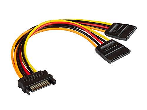 Good Connections SATA Y stroomkabel - SATA Y-kabel - stekker en 2x bus recht 1 Stück zwart, rood, geel