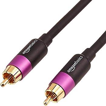 Amazon Basics RCA Audio Subwoofer Cable - 15 Feet