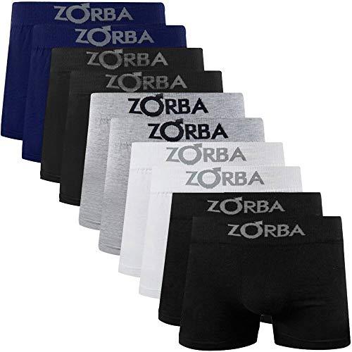 Kit 10 Cuecas Boxer Zorba Seamless com Algodão 781