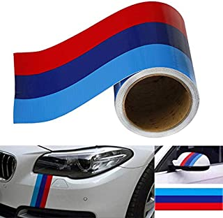 JUST N1 M-Colored Stripe Sticker 3 Meters Car Vinyl Decal for BMW M3 M4 M5 M6 3 5 6 7 Series Exterior Interior Cosmetic Hood Roof Bumpers Decoration