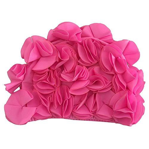 Uteruik Bonnet de bain pour femme, motif pétales de fleurs, style rétro, 1 pièce (#F)