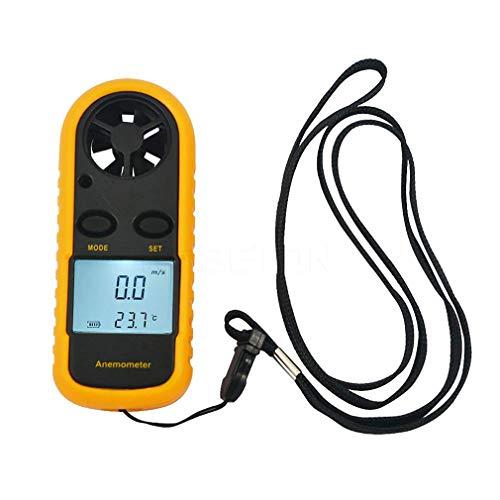 KZEN Anemómetro Anemómetro Digital Portátil LCD Pantalla para medir la Velocidad del Viento y Viento, adecuadas para el Surf Pesca al Aire Libre Aventura