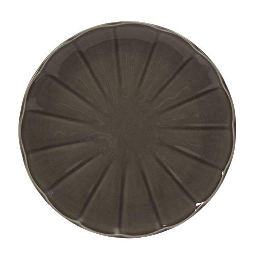 Table Passion - Assiette plate venice gris 27 cm (lot de 6)
