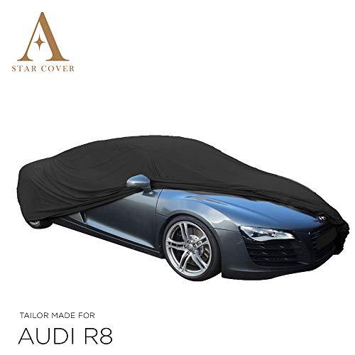 AUTOABDECKUNG SCHWARZ PASSEND FÜR Audi R8 Coupe INNEN SCHUTZHÜLLE ABDECKPLANE SCHUTZDECKE VOLLGARAGE Cover