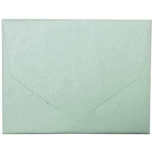 "JAM Paper Handmade Recycled Wallet/Folder - 10"" x 13"" - Pastel Green Metallic - Sold Individually"