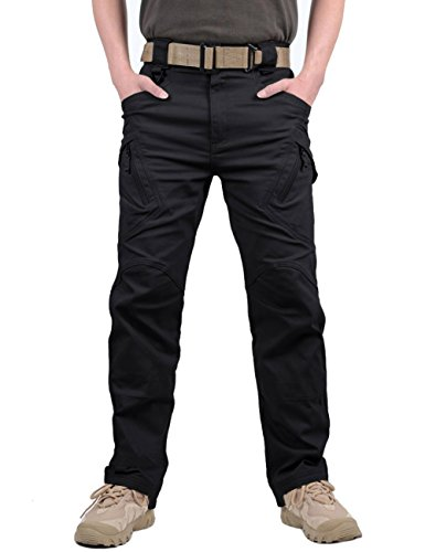 KEFITEVD Men's Combat Tactical Trousers Outdoor Military Cargo Trouser Multi Pockets Safari Work Pants