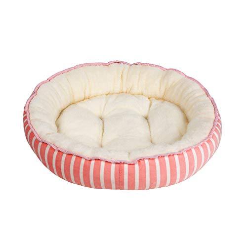 ppactvo Camas para Perros Casetas para Perros Cuscino Antiscivolo Caldo per Dormire per Animali Domestici Nido Lavabile Rimovibile Tutto L'Anno S,Pink