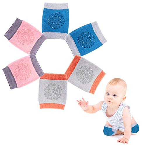 Baby Crawling Anti-Slip Knee, New Unisex Baby Toddlers Kneepads,Breathable Adjustable Elastic Unisex...