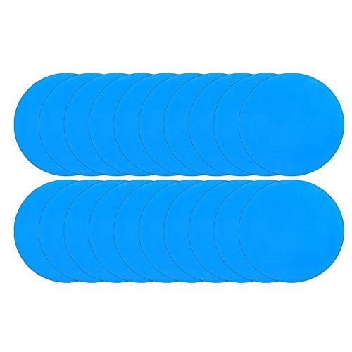 POHOVE 20 Stück selbstklebender PVC-Reparaturflicken, Pool-Reparaturflicken, Vinyl-Patch, Bootsabdeckungen, Flicken, Reparatur-Set für Pool-Flicken, Schwimmbäder, aufblasbares Boot
