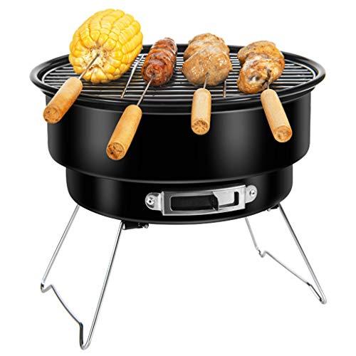 FEANG Kohlegrill, Edelstahl Tragbare Klappgrill Tischplatte Raucher BBQ Grill Grill Outdoor-Kochen Camping Picknick-Hinterhof