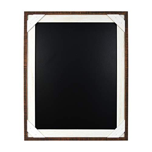PRINZ Reclaimed 16 x 20 Crosshatch Wood Frame Chalkboard, Walnut/White