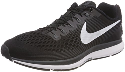 Nike Men's Air Zoom Pegasus 34 Flyease Black/White Dark Grey Ankle-High Running Shoe - 8M