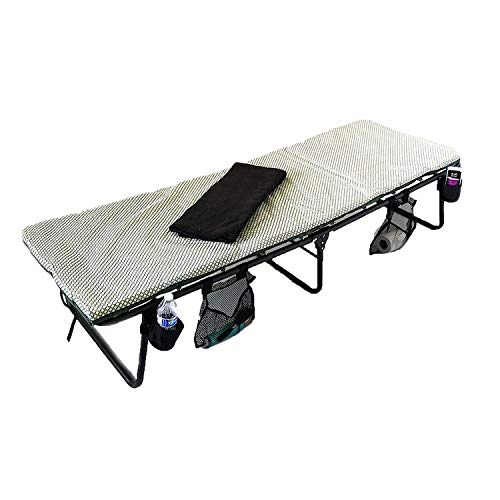 Oasis Coleman Deluxe Folding Cot - Portable, Heavy-Duty & Easy to Carry Construction - Bonus Item...