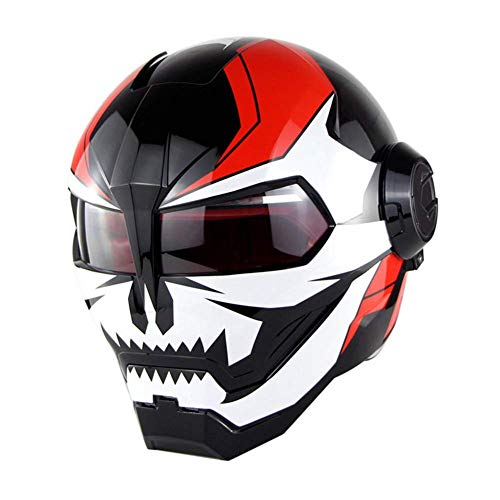Motorhelm D.O.T gecertificeerde motorcross volledig gezicht Casco Moto Flip Open masker Helm, Iron Man Transformers M, L, XL