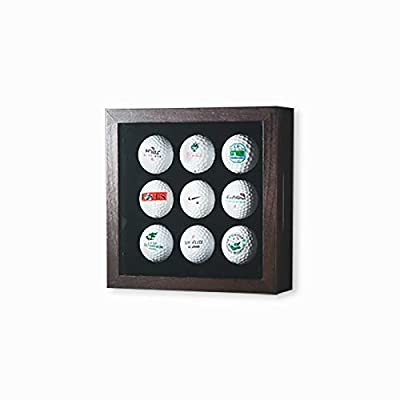 Golfball-Vitrine Braun für Golfbälle