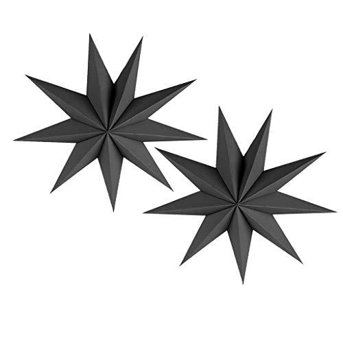 Generic 2X Paper Stars Decor 9 Sterne Hängen für Hochzeitsfeier zu Weihnachten
