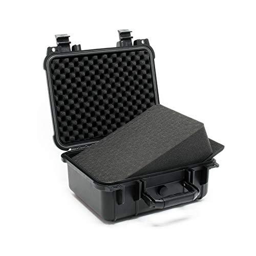 Universalkoffer 35x29,5x15cm schwarz, mit Druckausgleichsventil & anpassbaren Schaumstoffmatten
