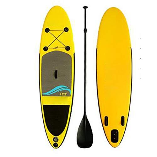 Tabla de surf tabla de surf Paddle Board Tabla de surf, Adult River Floating SUP Inflable Stand Up Paddle Board con bolsa de transporte, kit de reparación, paleta ajustable, bomba de mano con manómetr