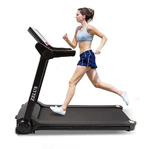 CO-Z Tapis Roulant Pieghevole Elettrico Macchina per Training Aerobico e Fitness con Controllo App, Display LCD, 12 Programmi Attrezzatura per Esercizi Silenziosi per Ufficio e Casa (1,0-14,8KM H)