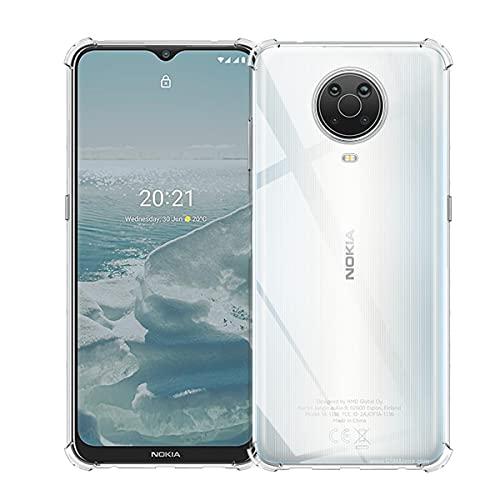 ELYCO Hülle Kompatibel mit Nokia G10/G20, [Anti-Gelb und Kratzfest][Stoßabsorbierende] Handyhülle Weich Silikon Bumper Cover Slim Schutzhülle Hülle für Nokia G10/G20 - Transparent