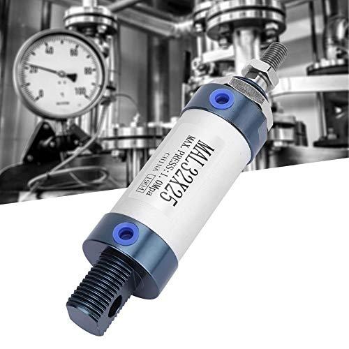 Naroote Cilindro neumático de Aire, Mal 32mm Cilindro Simple de Doble Efecto Mini Cilindro neumático de Aire Aleación de Aluminio(25mm)
