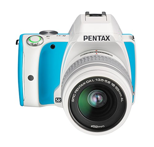 Pentax K-S1 SLR-Digitalkamera (20 Megapixel, 7,6 cm (3 Zoll) Display, ultrakompaktes Gehäuse, Anti-Moiré-Funktion, Full-HD-Video, Wi-Fi, HDMI) Kit inkl. DAL 18-55 Objektiv blue cream soda