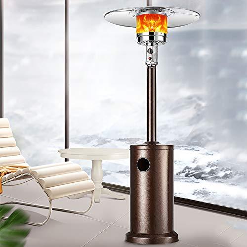 Radiador de Exteriores,Terraza al aire libre Calentador de calentador,Estufa para terraza,Calentador de patio de gas,13KW Llama Calentador Calentador de gas para jardín Camping BBQ-natural gas
