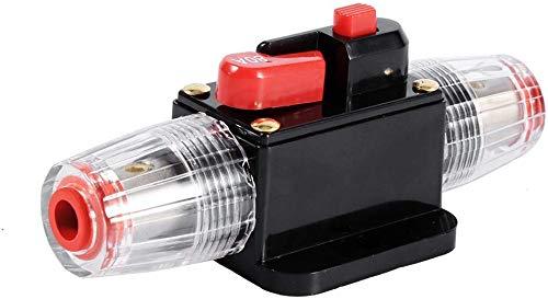 Movilideas 12V-24V DC Interruptor de Ajuste Manual En Línea de Circuito Automático Interruptor Fusible, 50A/60A/80A/100A Disyuntor Caravana Coche Protección (60 Amp.)