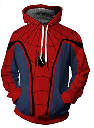 SQDWYA Hoodie 3D Marvel Spider Series Head Pullover 3D digitale print anime-kleding Qui Rodea