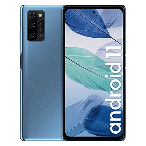 Smartphone Offerta del Giorno 4G, Blackview A100 Android 11 Cellulari Offerte con 6GB+128GB, Helio P70 Octa Core, 6.67''FHD+,4680mAh Batteria 18W, 12+8MP, NFC Dual SIM Telefono Cellulare -Blu