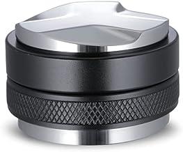 Coffee Distributor and Palm Tamper Black, SANTOW Dual Head Coffee Leveler Fits Espresso Portafilter, Adjustable Depth, Pro...