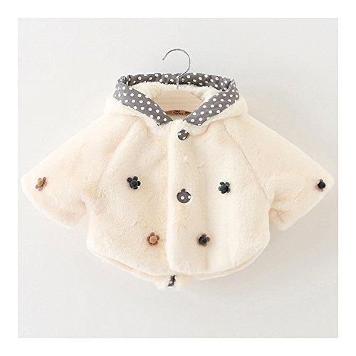 Baby Baby Baby Kind Mantel Dikke Jas 0-1-3 Jaar Oud Wit 90cm Meerkleurig