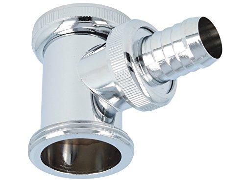 tecuro Siphon Abfluss Geruchsverschluss Zwischenstück Adapter für Geräte