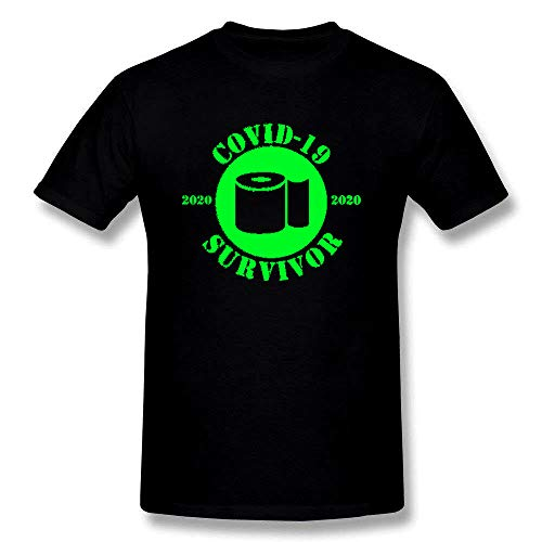 Fashion Covid-19 Survivor Coronavirus 2035 Short Sleeve T-Shirt Black/Green