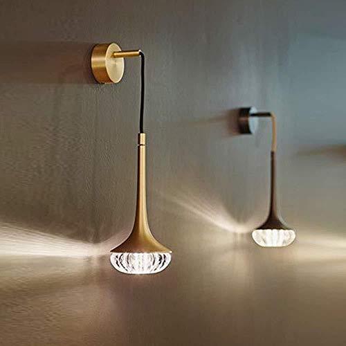 Wandstahler Lámpara de pared brillante y postal creativa para el salón o la noche del dormitorio de diseñador, modelo de habitación, lámpara de pared