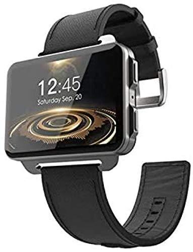 Bluetooth Smart Phone Relojes Fitness Tracker Soporte Tarjeta SIM Monitor de Corazón Pantalla Táctil Compatible Android iOS GPS Reloj Deportivo-Negro
