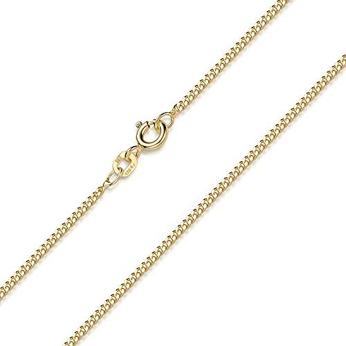 Damen Halskette gold ohne Anhänger - 50cm Panzerkette Silber 925 vergoldet K123-50