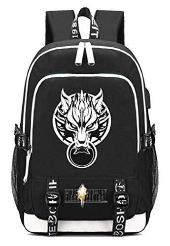 WANHONGYUE FINAL Fantasy Spiel Backpack Schultasche Laptop-Rucksack mit USB-Ladeanschluss und Kopfhöreranschluss /5