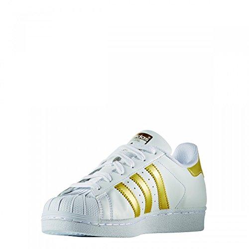 adidas Superstar J, Zapatillas de Deporte Unisex Niños, Blanco (Ftwbla/Dormet/Dormet), 38 2/3 EU