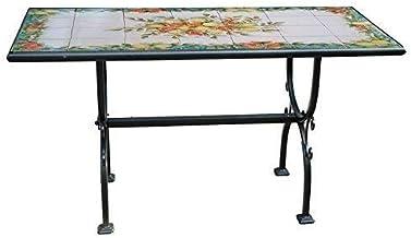 Tavoli In Ceramica Per Esterno.Amazon It Tavolo E Sedie Da Giardino Mosaico